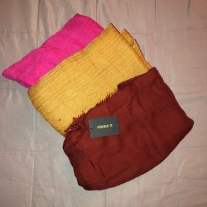 Assorted Forever 21 & Other Scarves/Shawls/Hijabs